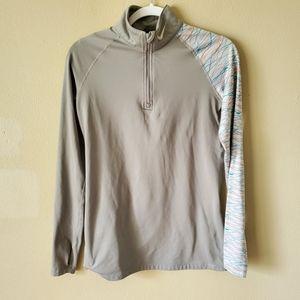 Nike Dri-Fit Gray Athletic Workout Sweatshirt L
